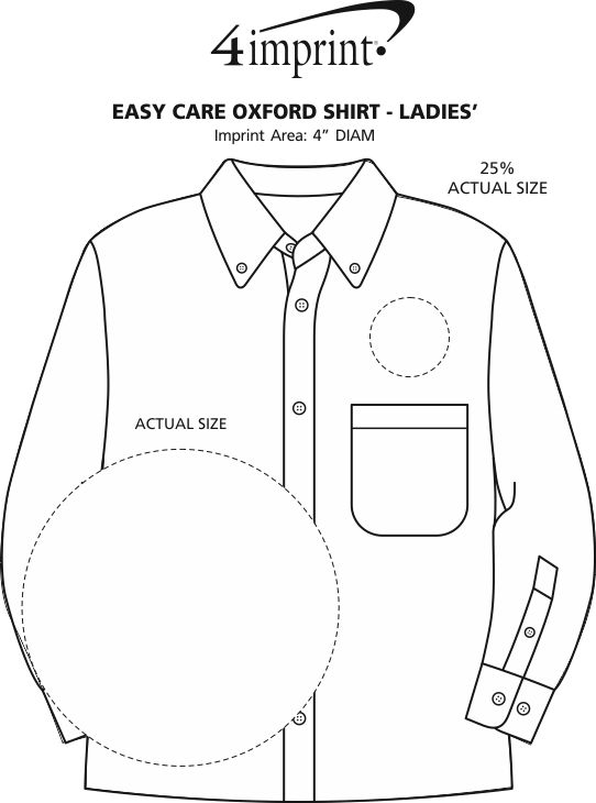 Imprint Area of Easy Care Oxford Shirt - Ladies'