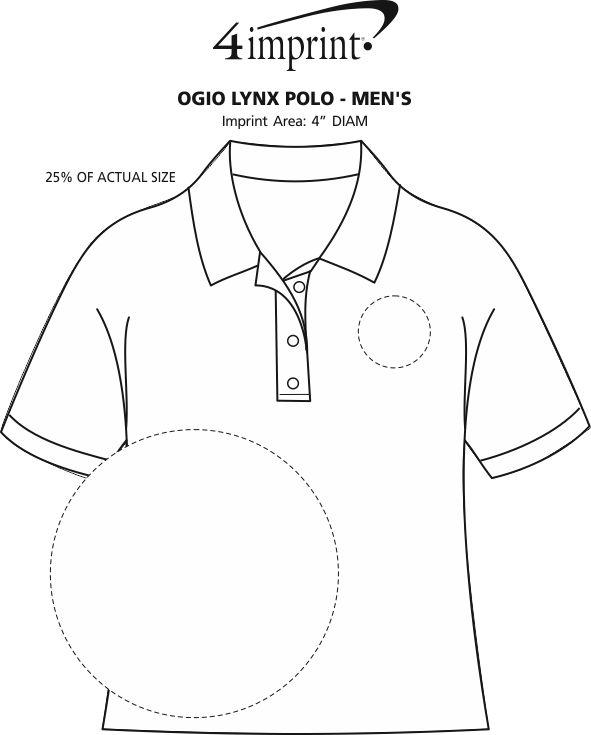 Imprint Area of OGIO Lynx Polo - Men's