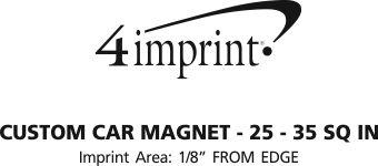 Imprint Area of Custom Car Magnet - 25 - 35 SQ IN