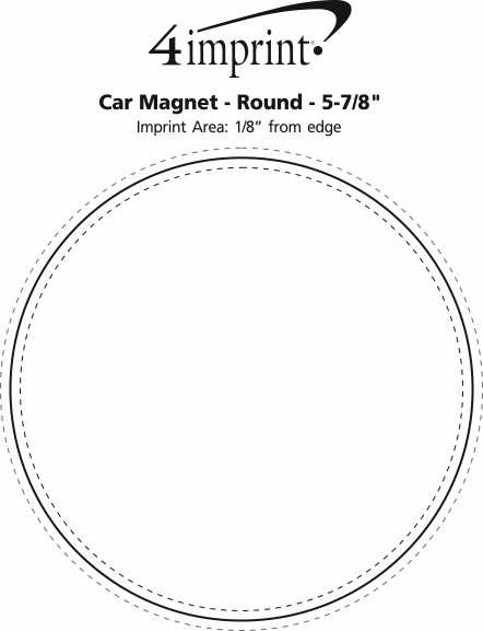 Imprint Area of Car Magnet - Round - 5-7/8""