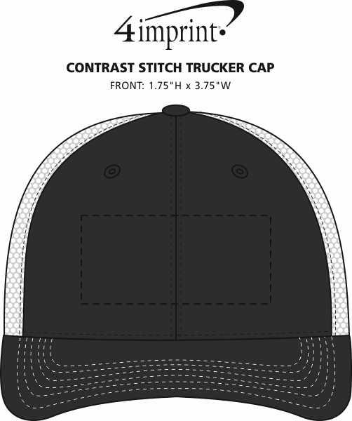 Imprint Area of Contrast Stitch Trucker Cap