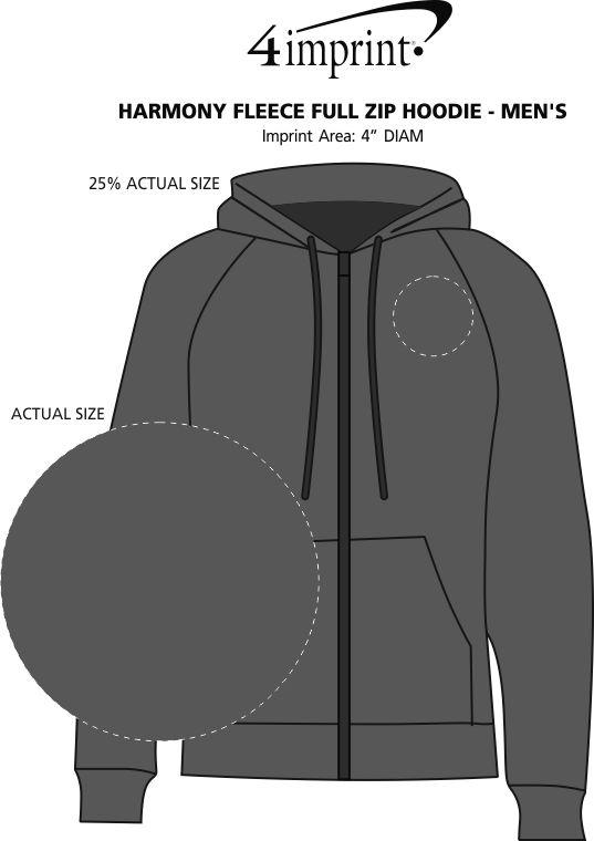 Imprint Area of Harmony Fleece Full-Zip Hoodie - Men's