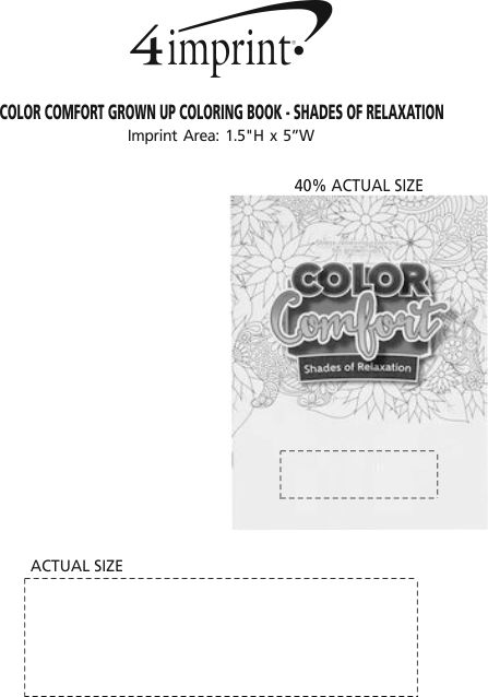 Imprint Area of Color Comfort Grown Up Coloring Book - Shades of Relaxation