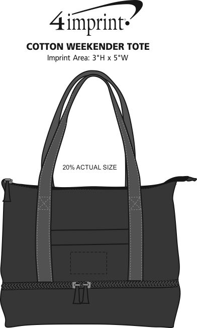 Imprint Area of Cotton Weekender Tote