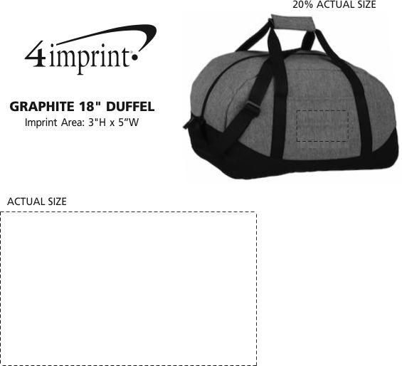 "Imprint Area of Graphite 18"" Duffel"