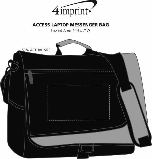 Imprint Area of Access Laptop Messenger Bag