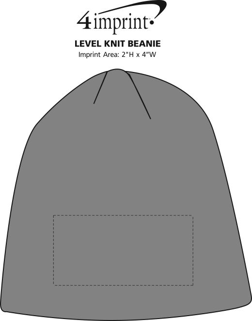 Imprint Area of Level Knit Beanie