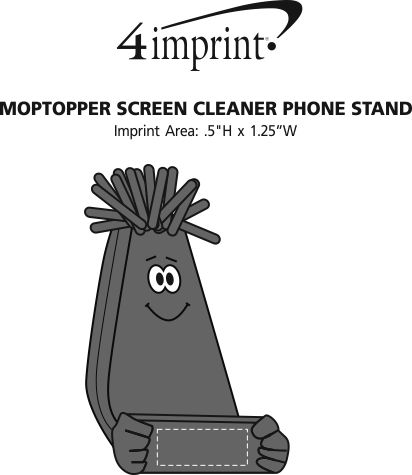 Imprint Area of MopTopper Screen Cleaner Phone Stand