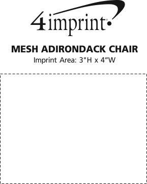 Imprint Area of Mesh Adirondack Chair