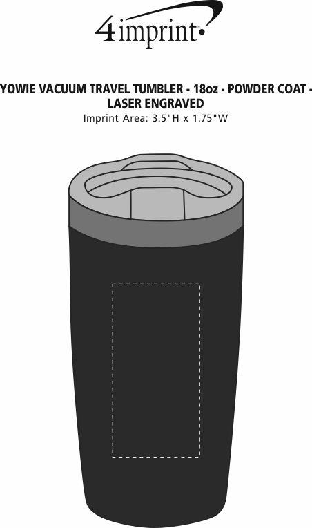 Imprint Area of Yowie Vacuum Travel Tumbler - 18 oz. - Powder Coat - Laser Engraved