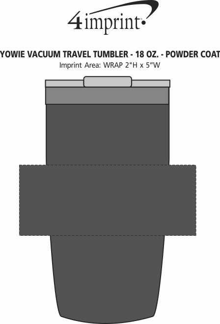 Imprint Area of Yowie Vacuum Travel Tumbler - 18 oz. - Powder Coat