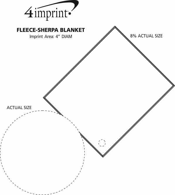 Imprint Area of Fleece-Sherpa Blanket