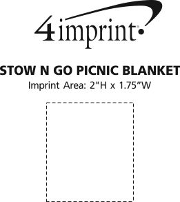 Imprint Area of Stow N Go Picnic Blanket