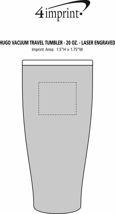 Imprint Area of Hugo Vacuum Mug - 20 oz. - Laser Engraved
