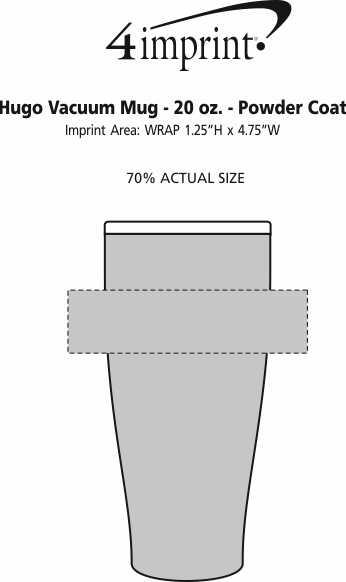 Imprint Area of Hugo Vacuum Mug - 20 oz. - Powder Coated
