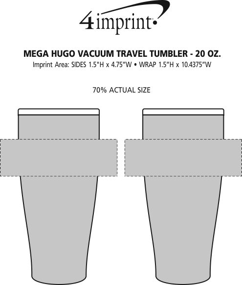 Imprint Area of Hugo Vacuum Mug - 20 oz.