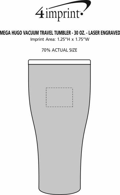Imprint Area of Mega Hugo Vacuum Mug - 30 oz. - Laser Engraved