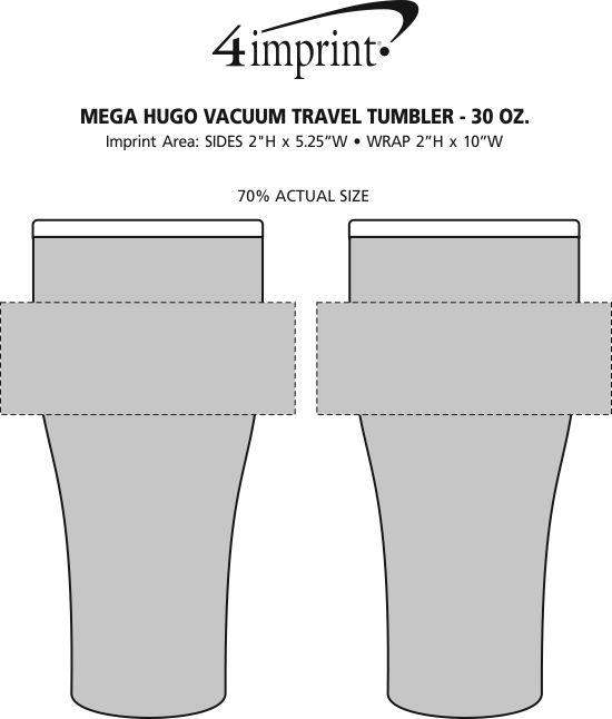 Imprint Area of Mega Hugo Vacuum Mug - 30 oz.