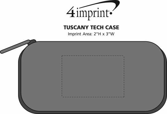 Imprint Area of Tuscany Tech Case