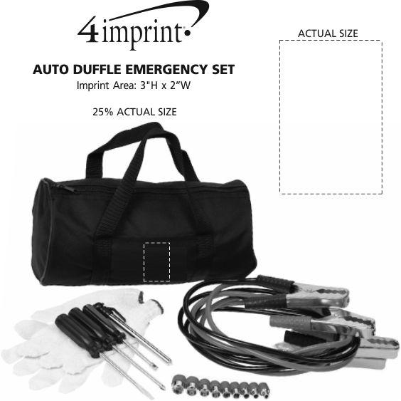Imprint Area of Auto Duffel Emergency Set