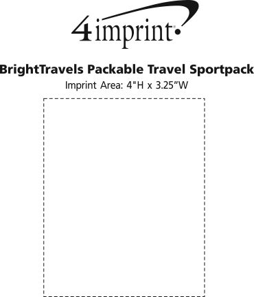 Imprint Area of BrightTravels Packable Travel Sportpack