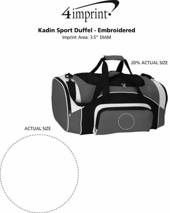 Imprint Area of Kadin Sport Duffel - Embroidered