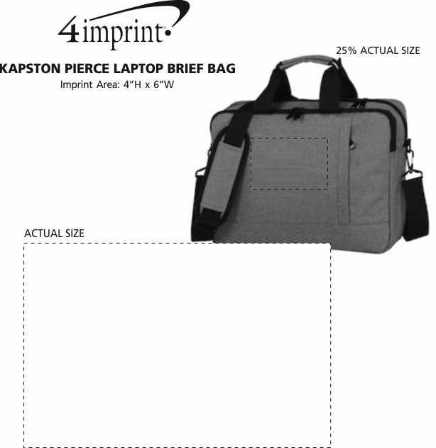 Imprint Area of Kapston Pierce Laptop Brief Bag