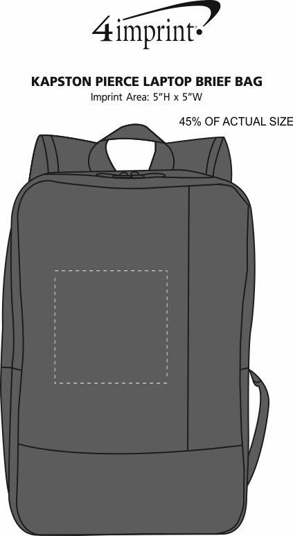 Imprint Area of Kapston Pierce Laptop Backpack