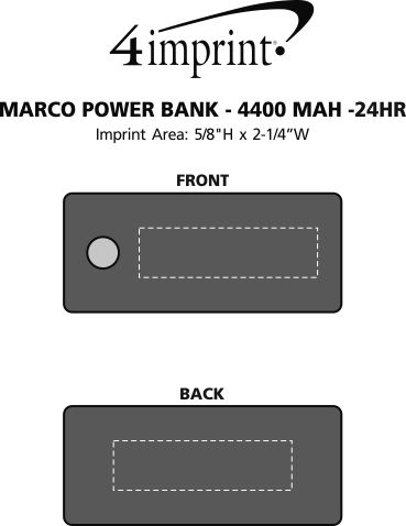 Imprint Area of Marco Power Bank - 24 hr