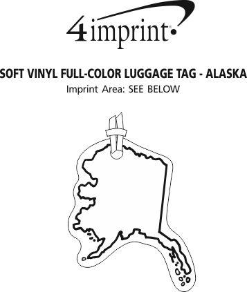Imprint Area of Soft Vinyl Full-Color Luggage Tag - Alaska