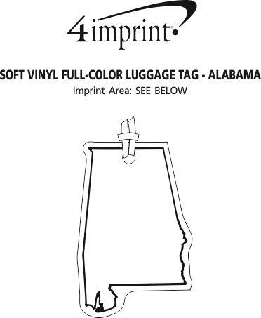 Imprint Area of Soft Vinyl Full-Color Luggage Tag - Alabama