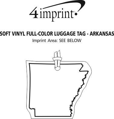 Imprint Area of Soft Vinyl Full-Color Luggage Tag - Arkansas