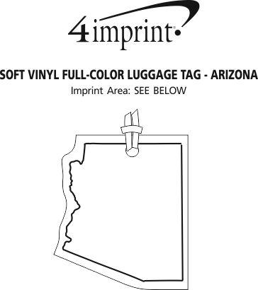 Imprint Area of Soft Vinyl Full-Color Luggage Tag - Arizona