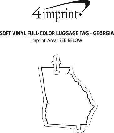 Imprint Area of Soft Vinyl Full-Color Luggage Tag - Georgia
