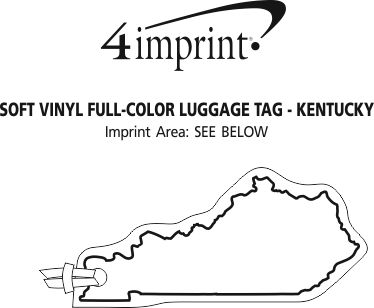 Imprint Area of Soft Vinyl Full-Color Luggage Tag - Kentucky