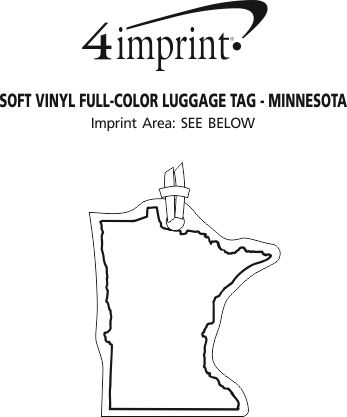 Imprint Area of Soft Vinyl Full-Color Luggage Tag - Minnesota