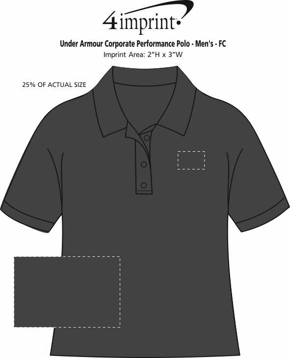 Imprint Area of Under Armour Corporate Performance Polo - Men's - Full Color