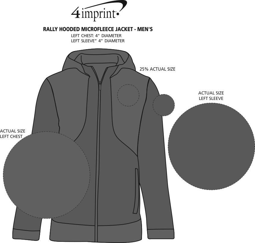 Imprint Area of Rally Hooded Microfleece Jacket - Men's