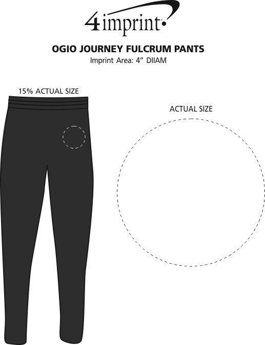 Imprint Area of OGIO Journey Fulcrum Pants