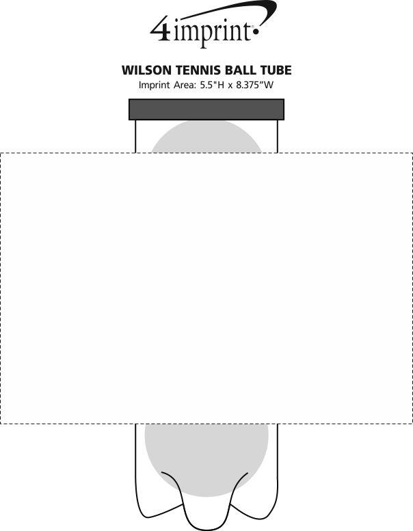 Imprint Area of Wilson Tennis Ball Tube