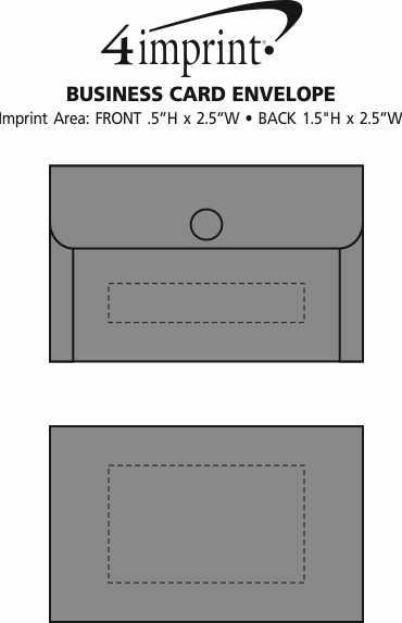 Imprint Area of Business Card Envelope