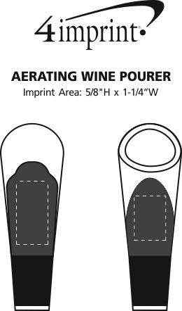 Imprint Area of Aerating Wine Pourer