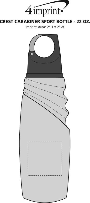 Imprint Area of Crest Carabiner Sport Bottle - 22 oz.