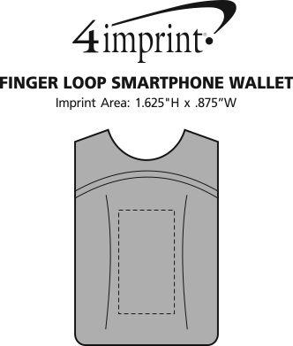 Imprint Area of Finger Loop Smartphone Wallet