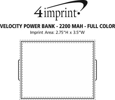 Imprint Area of Velocity Power Bank - Full Color