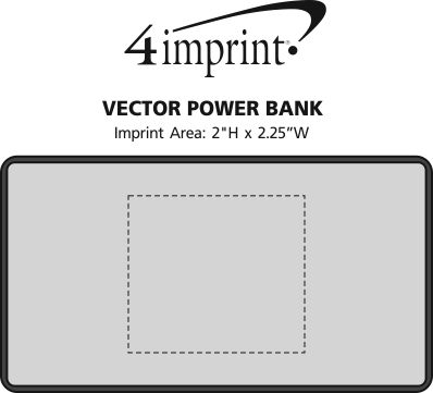 Imprint Area of Vector Power Bank - 6000 mAh