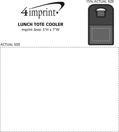 Imprint Area of Lunch Tote Cooler