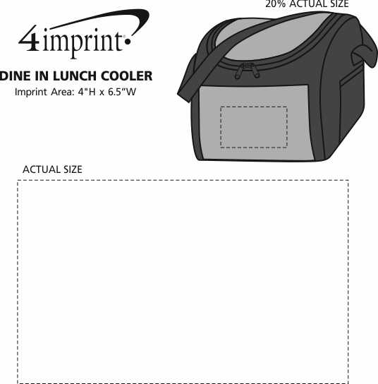 Imprint Area of Dine In Lunch Cooler