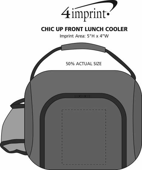 Imprint Area of Chic Up Front Lunch Cooler