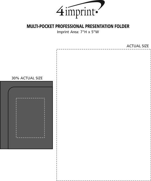 Imprint Area of Multi-Pocket Professional Presentation Folder